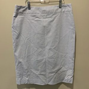 Brooks Brothers | Petite Seersucker Skirt - 10P